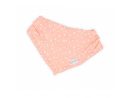 Kojenecký šátek na krk Nicol Rainbow růžový