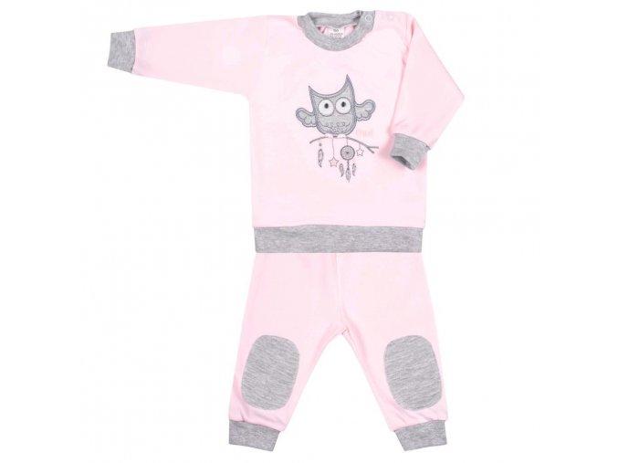 2-dílná kojenecká souprava New Baby Owl růžová