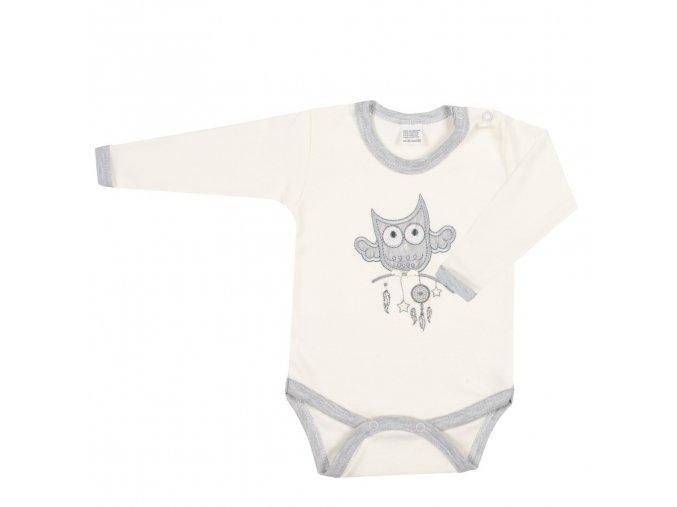 Kojenecké body New Baby Owl béžové