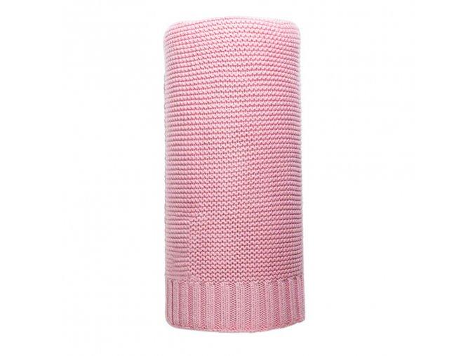 Bambusová pletená deka NEW BABY 100x80 cm růžová