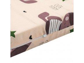 Matrace molitan-kokos béžová různé obrázky