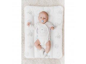 Přebalovací podložka New Baby Emotions bílá 70x50cm