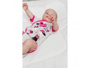 Dětské body s krátkým rukávem New Baby Love Mouse