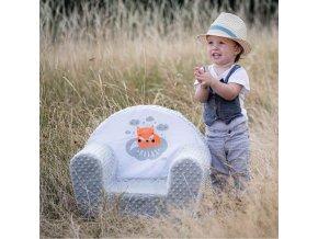 Dětské křeslo z Minky New Baby Liška lososové