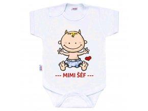 Body s potiskem New Baby MIMI ŠÉF