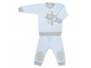 2-dílná kojenecká souprava New Baby Owl modrá