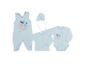 4-dílná kojenecká souprava Koala Moon modrá