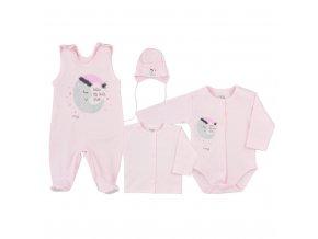 4-dílná kojenecká souprava Koala Moon růžová