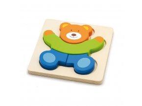 Dřevěné puzzle pro nejmenší Viga Medvídek