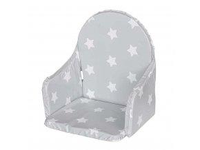 Vložka do dřevěných jídelních židliček typu New Baby Victory šedá hvězdičky