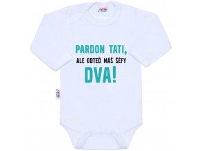Body s potiskem New Baby Pardon tati, ...máš šéfy dva!