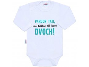 Body s potiskem New Baby Pardon tati,... máš šéfov dvoch!