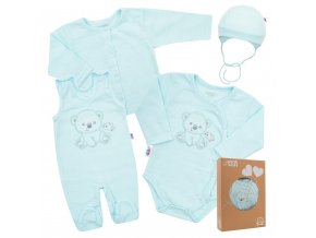 Kojenecká soupravička do porodnice New Baby Sweet Bear modrá