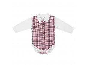 Kojenecké celorozepínací Polo body New Baby Checkered bílé