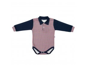 Kojenecké Polo body New Baby Checkered modré