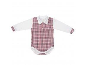 Kojenecké Polo body New Baby Checkered bílé