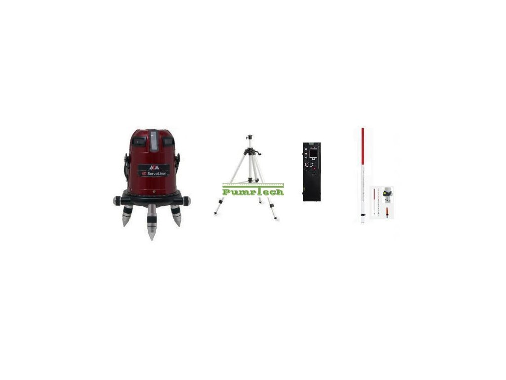 Křížový laser ADA 6D Servoliner + přijímač + lať + stativ