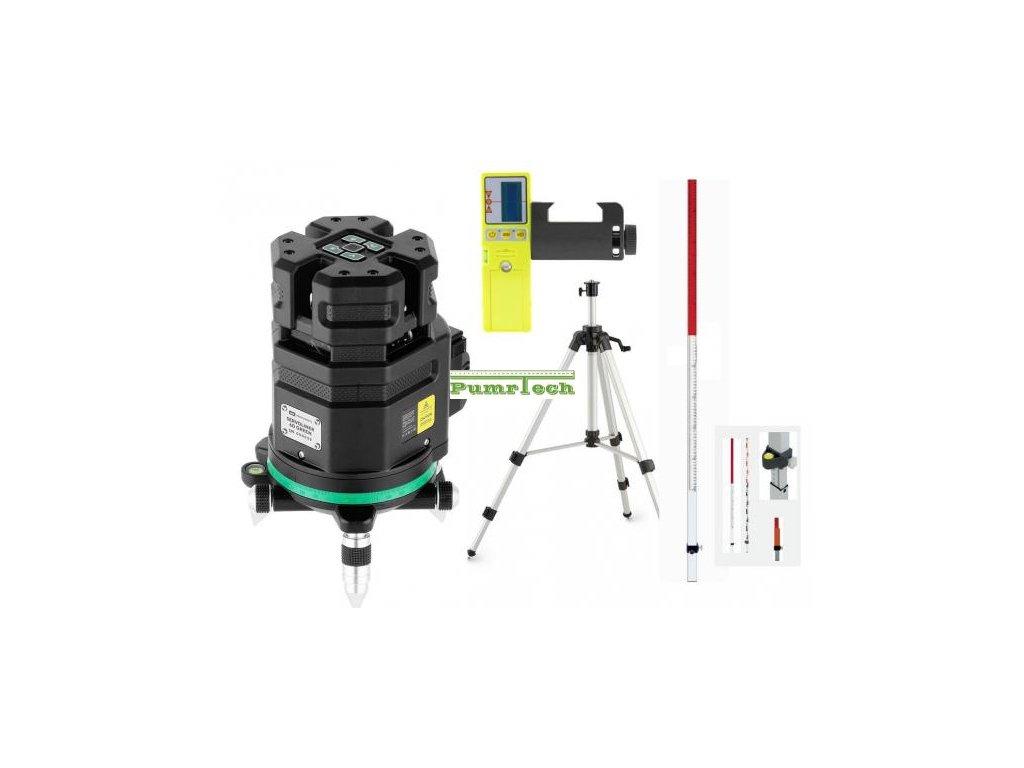 Křížový laser ADA 6D Servoliner Green + přijímač + lať + stativ
