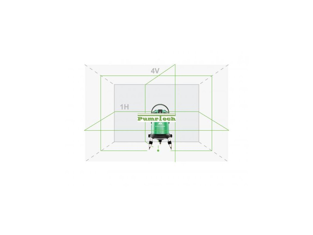 Křížový laser ADA 6D Servoliner Green