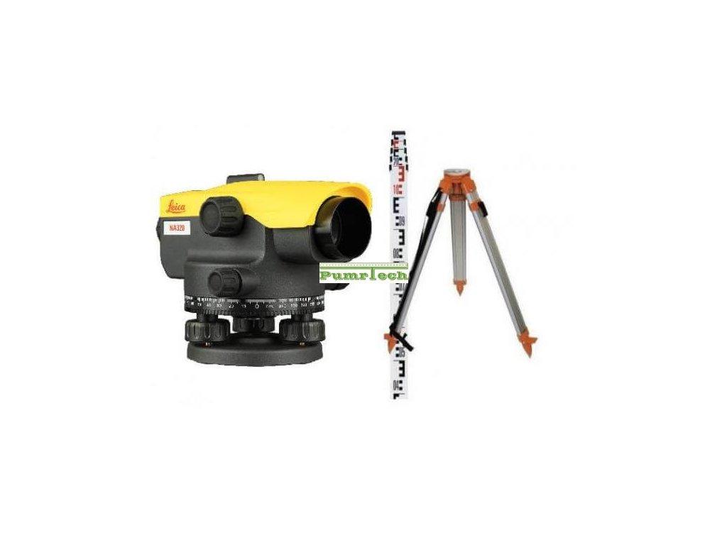 Nivelační přístroj sada Leica NA 324 (stativ, lať)