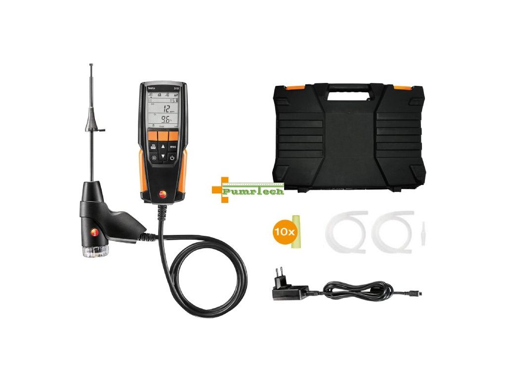 testo 310 set fluegas analyzer prl