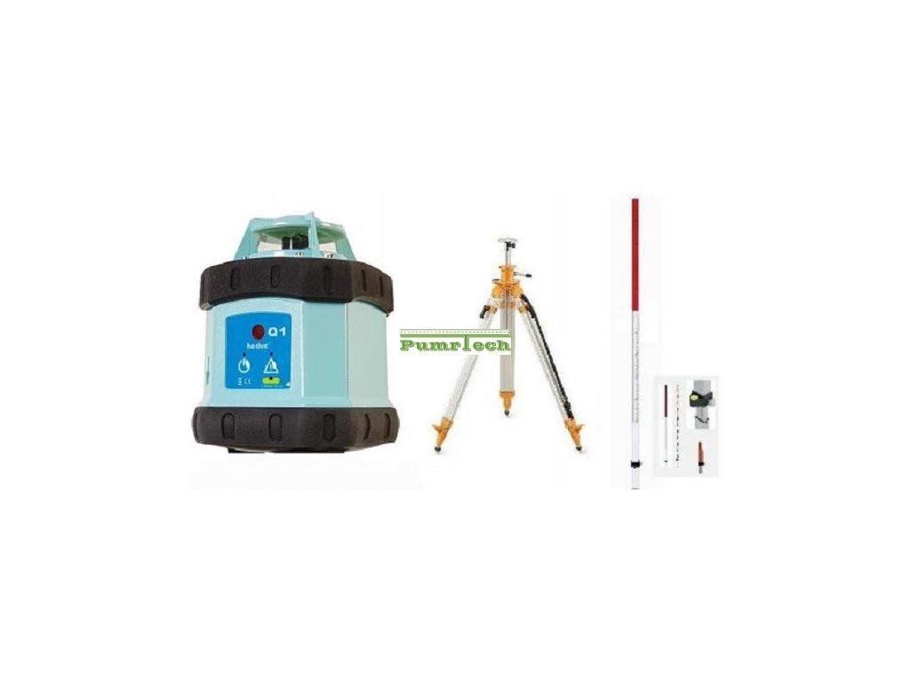 Rotacni laser Hedü Q1+stativ s klikou a lať