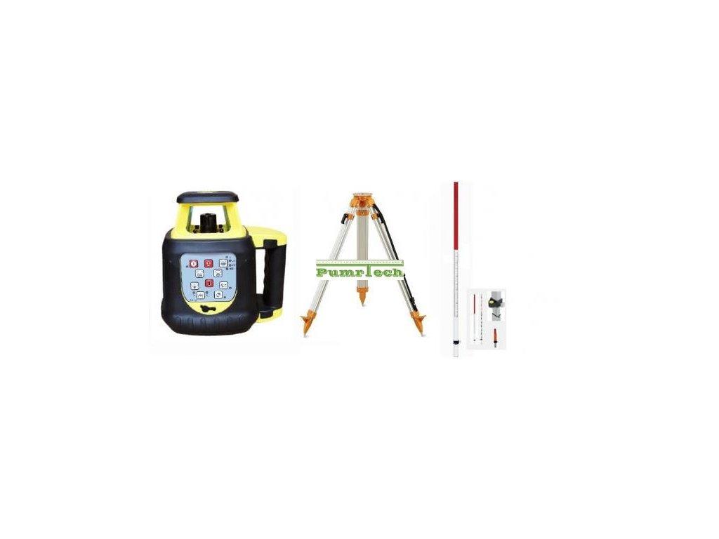 Rotační laser FKD FRE208R + stativ s klikou a lať