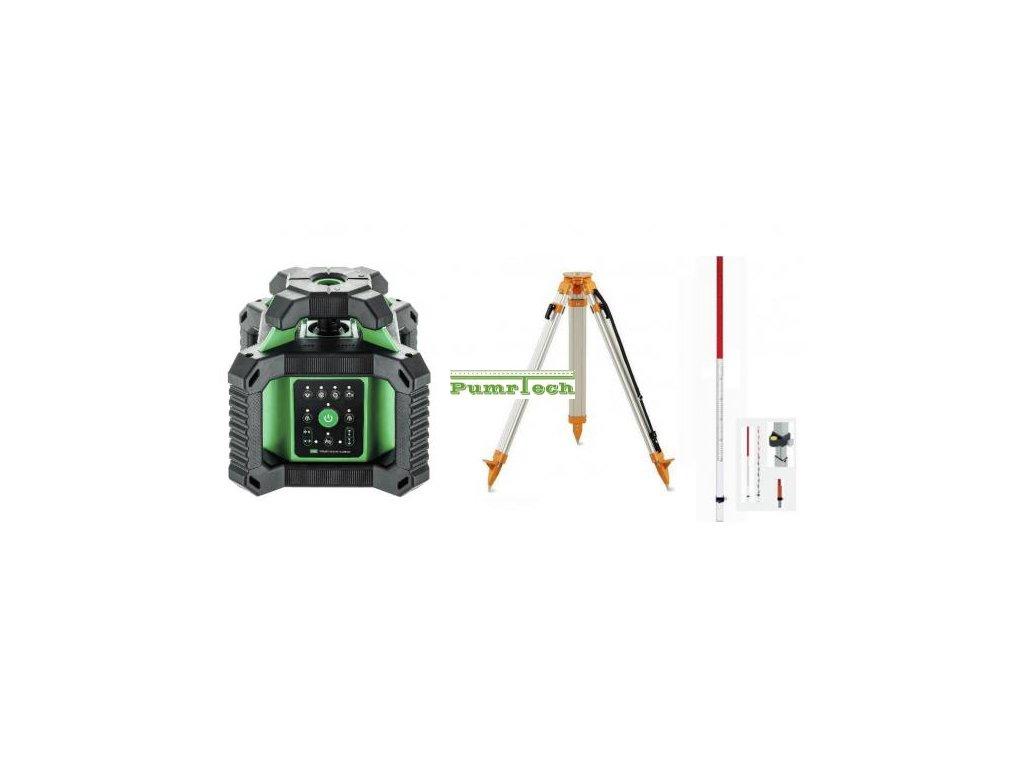 Rotační laser ADA Rotary 500HVG + stativ a lať