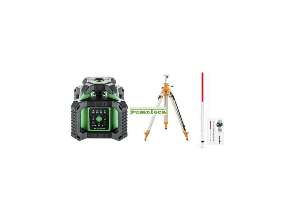 Rotační laser ADA Rotary 500HVG + stativ s klikou a lať