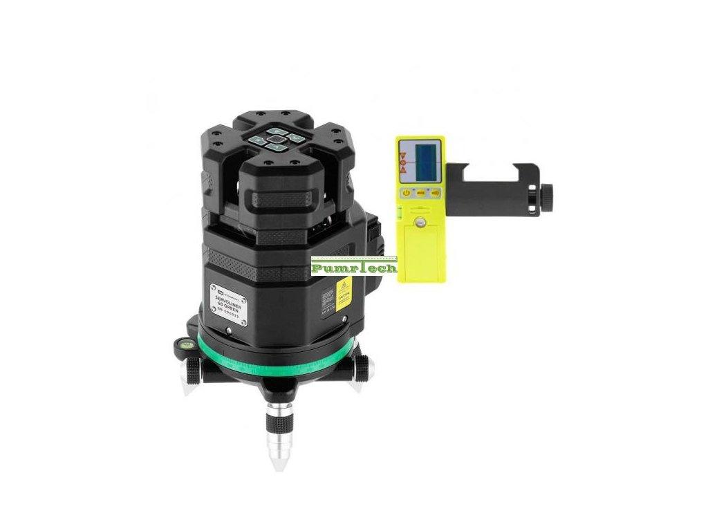 Křížový laser ADA 6D Servoliner Green + přijímač