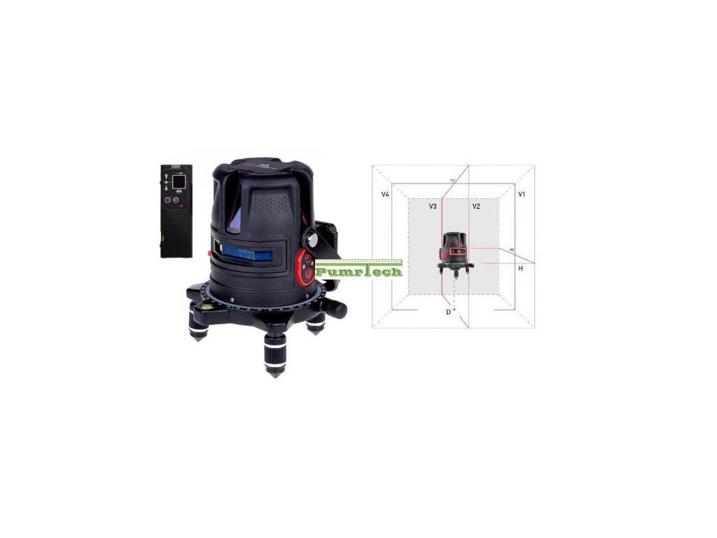 Křížový laser ADA ProLiner 4V + přijímač