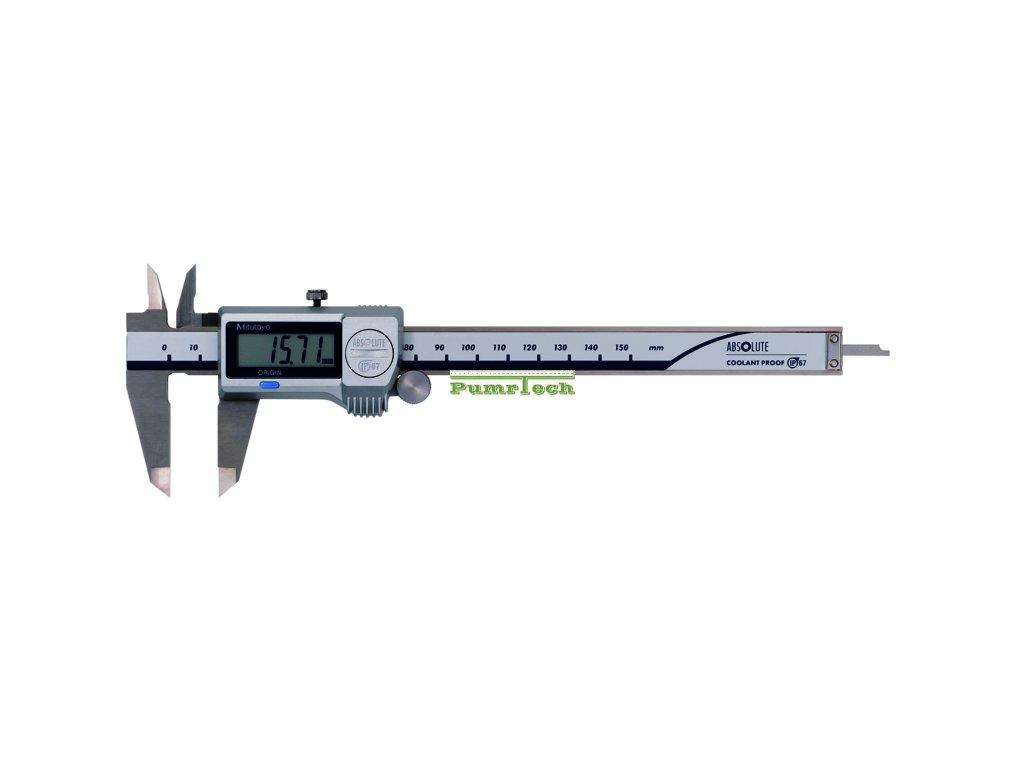 Digitální posuvné měřítko 0-150 mm, IP67, bez výstupu dat s posuvovým kolečkem