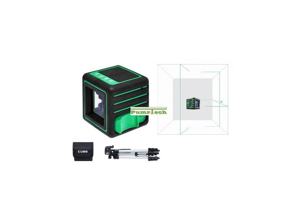 Křížový laser ADA Cube 3D Green Professional - zelený paprsek