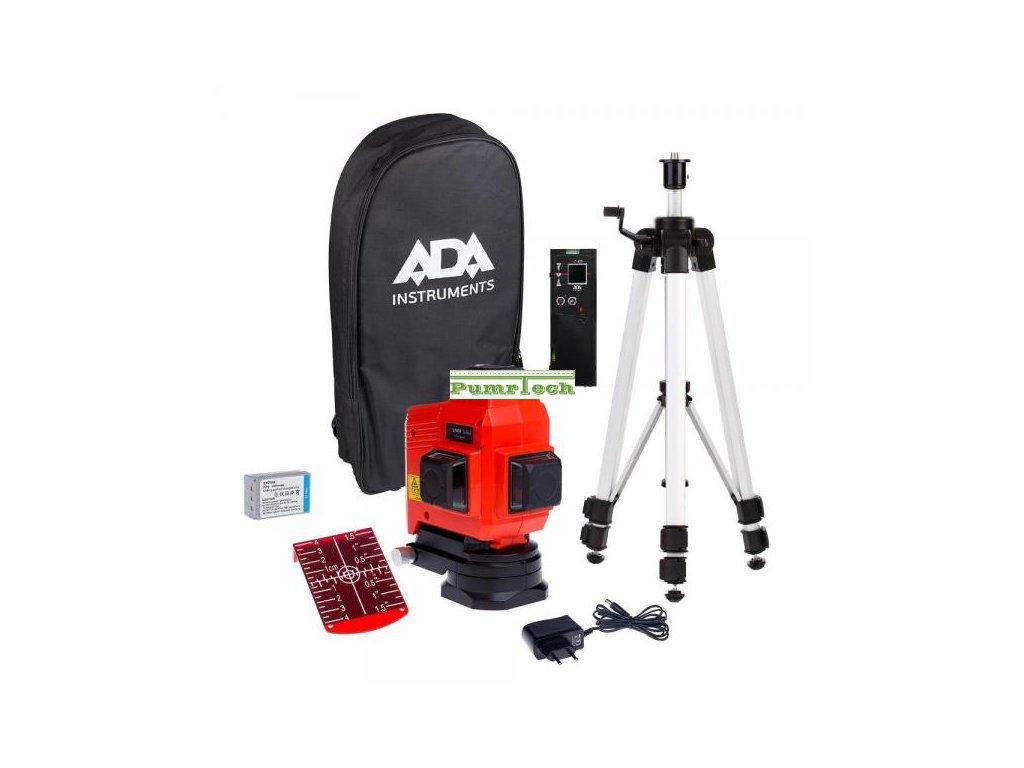 Křížový laser ADA TOPLINER 3 x 360 set + přijímač
