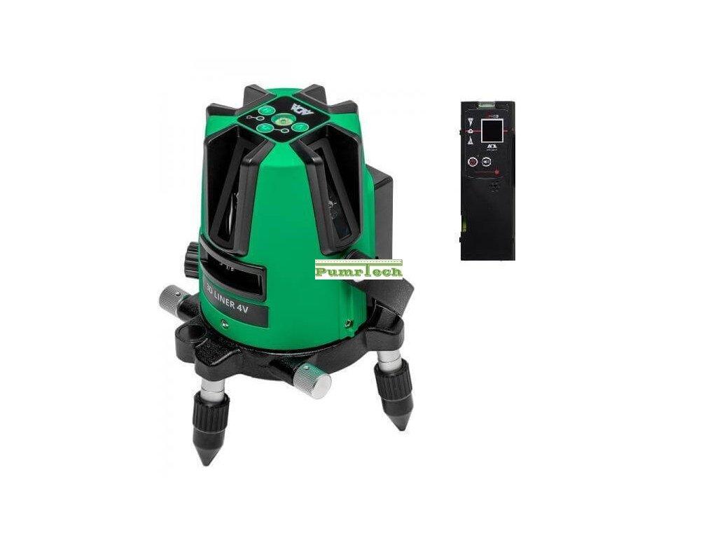 Křížový laser ADA 3D Liner 4V Green + přijímač