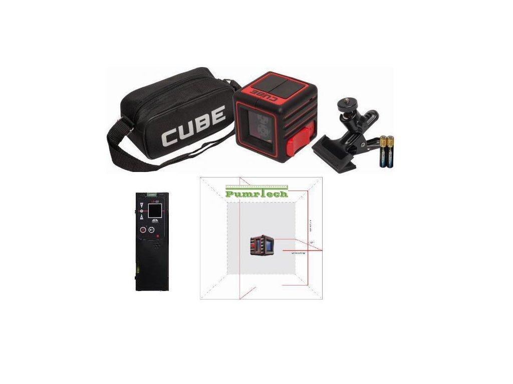 Křížový laser ADA Cube 3D Home + přijímač