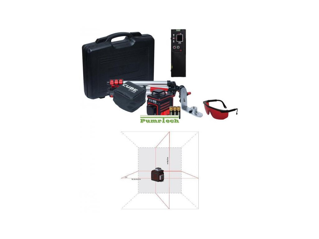 Křížový laser ADA Cube 2-360 Ultimate + přijímač