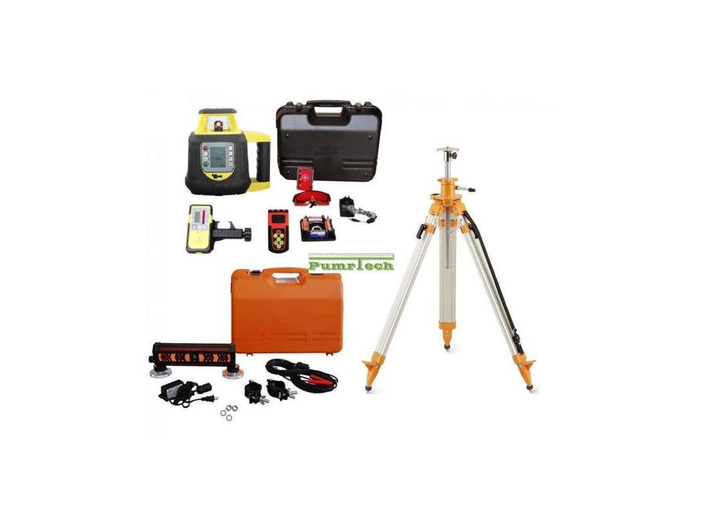 Rotační laser FKD FRE208 2S sklonový + příjímač pro zemní stroje a stativ