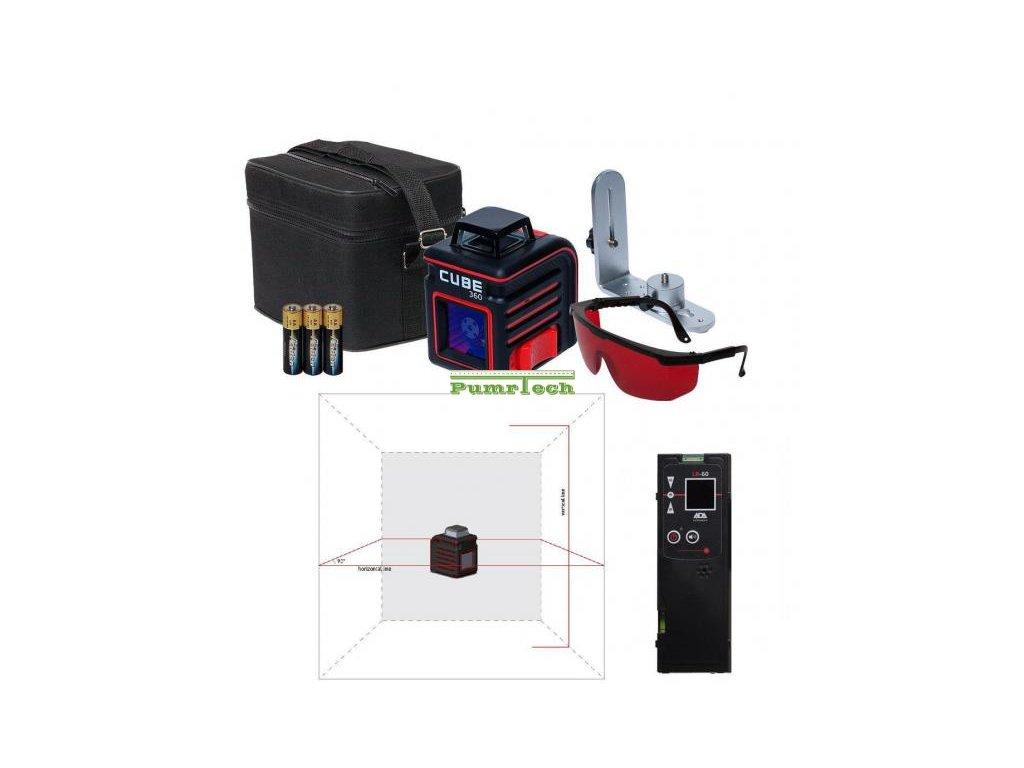 Křížový laser ADA Cube 360 Home + přijímač