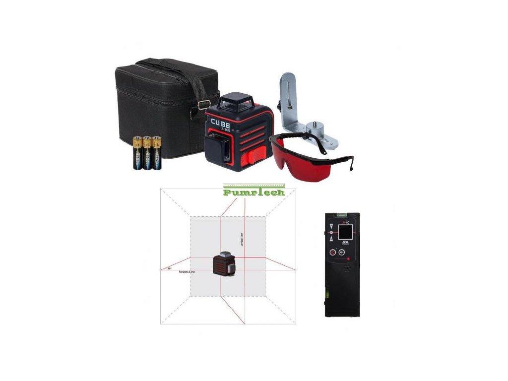 Křížový laser ADA Cube 2-360 Home + přijímač