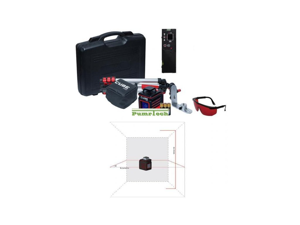 Křížový laser ADA Cube 360 Ultimate + přijímač