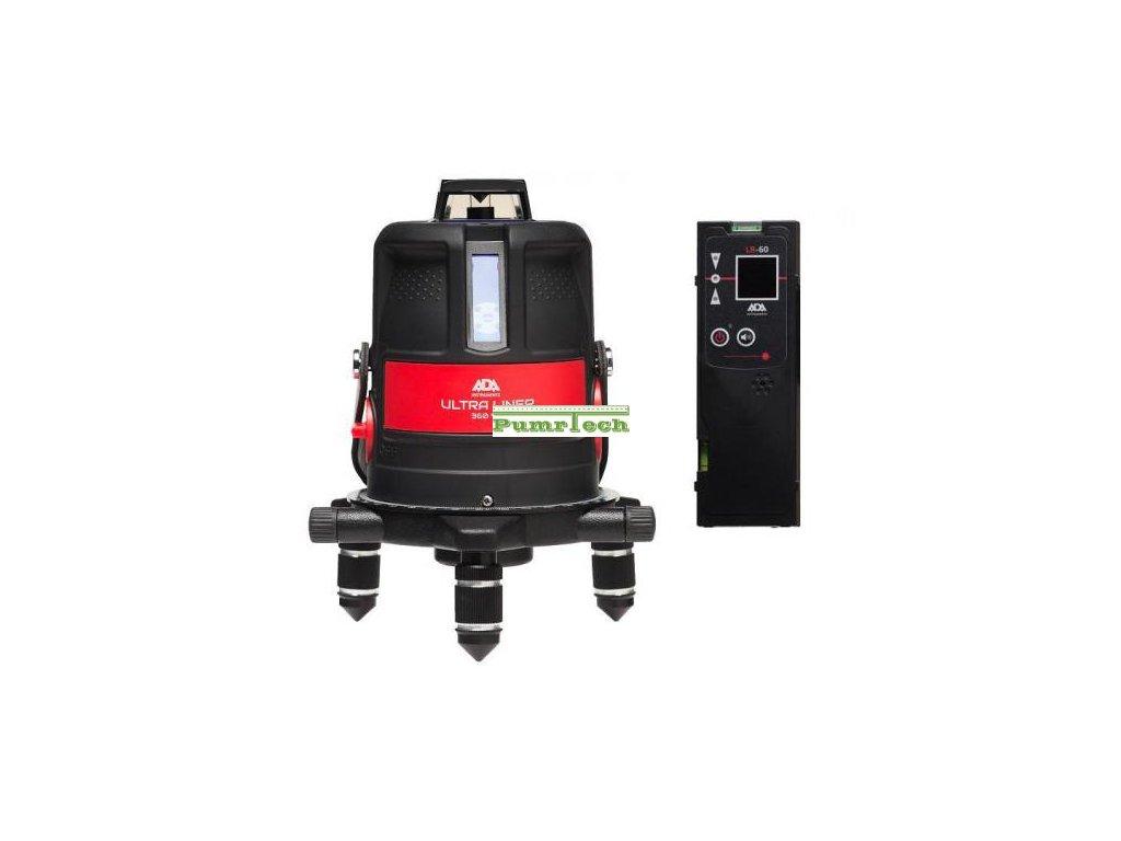 Křížový laser ADA Ultraliner 4V + přijímač