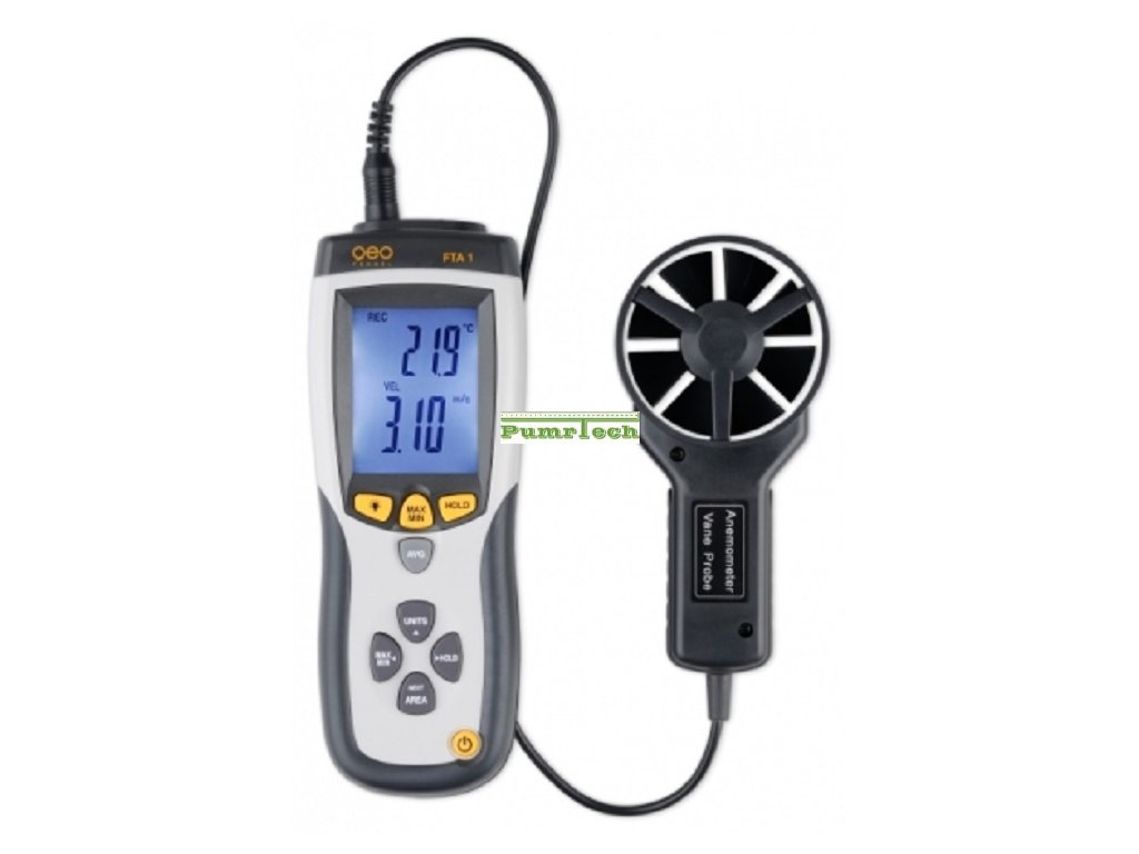 Měřič rychlosti průtoku a teploty FTA 1
