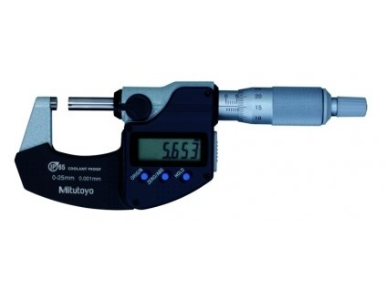 Mitutoyo digitální třmenový mikrometr 0-25 mm