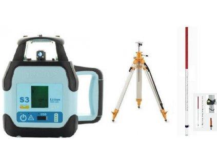 Rotační laser Hedü S3+stativ s klikou a lať