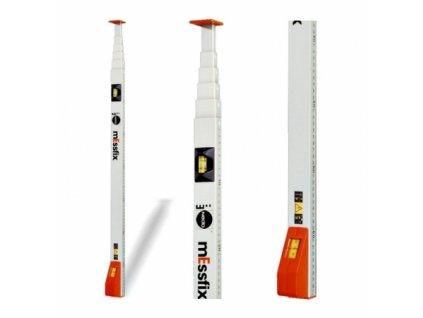 Kvalitní měřící lať Messfix 3 m s okénkem pro odečet dole