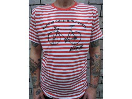 Favorit pruhované tričko modré a červené