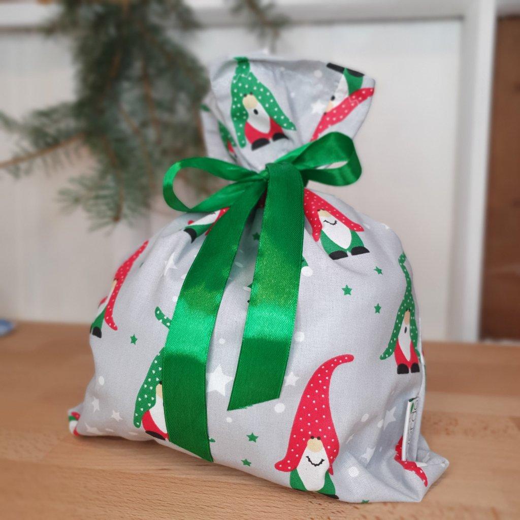 """Vánoční """"balící"""" pytlík trpaslíci"""