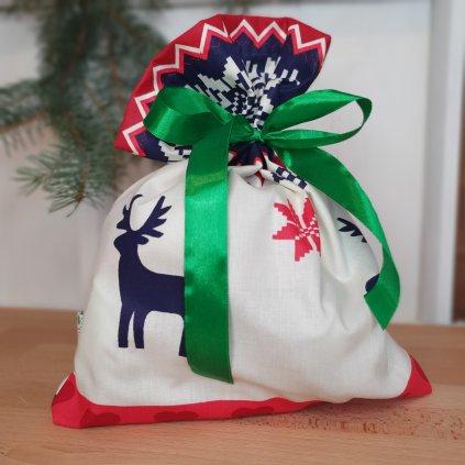 """Vánoční """"balící"""" pytlík jeleni"""