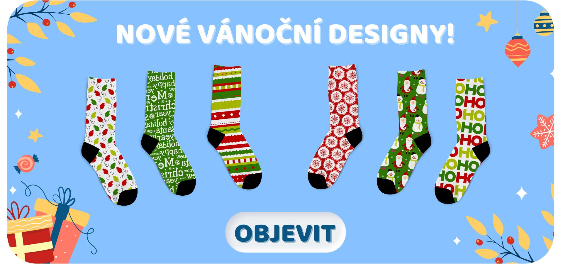 PC nové vánoční designy pupsocks